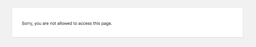 Cannot Access Page Error