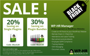 WP-HR Manager Black Friday Banner