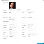 Employee Screen Shot 03 - New Employe Edit Pop Up